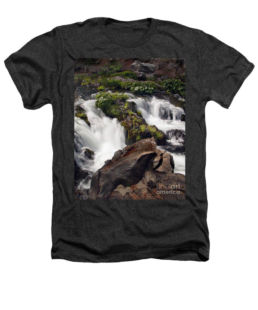 Creek Heathers T-Shirt featuring the photograph Deer Creek 12 by Peter Piatt