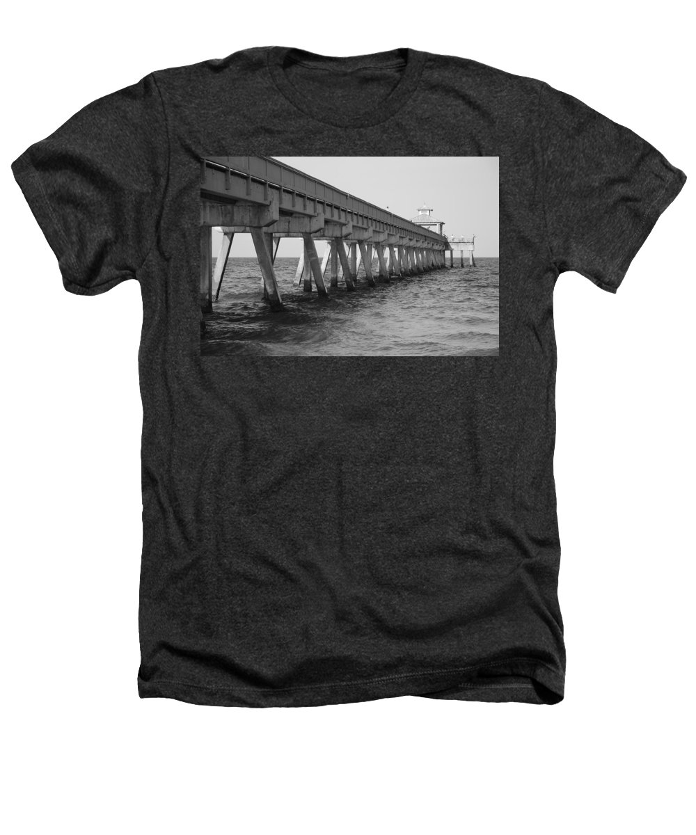 Architecture Heathers T-Shirt featuring the photograph Deerfield Beach Pier by Rob Hans