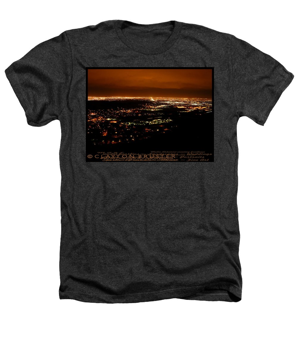 Clay Heathers T-Shirt featuring the photograph Denver Area At Night From Lookout Mountain by Clayton Bruster