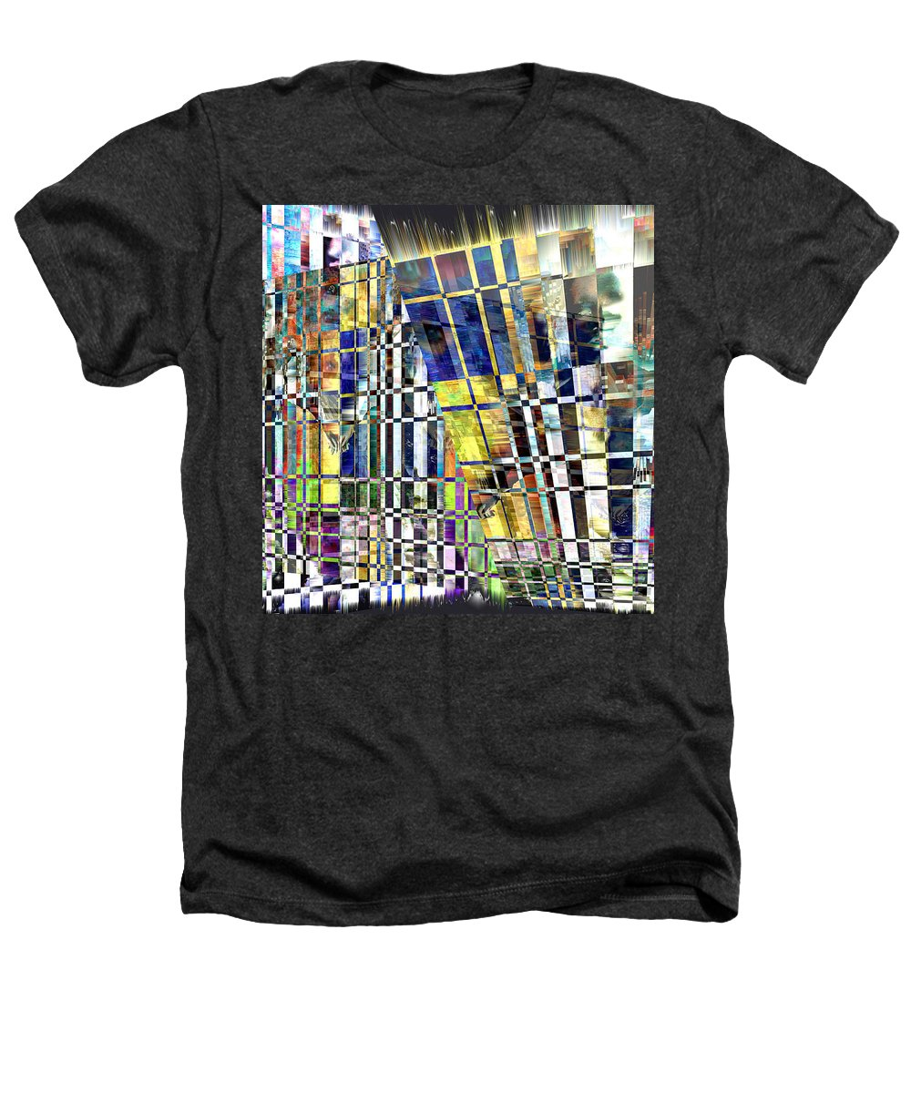Abstract Heathers T-Shirt featuring the digital art Desperate Reflections by Seth Weaver