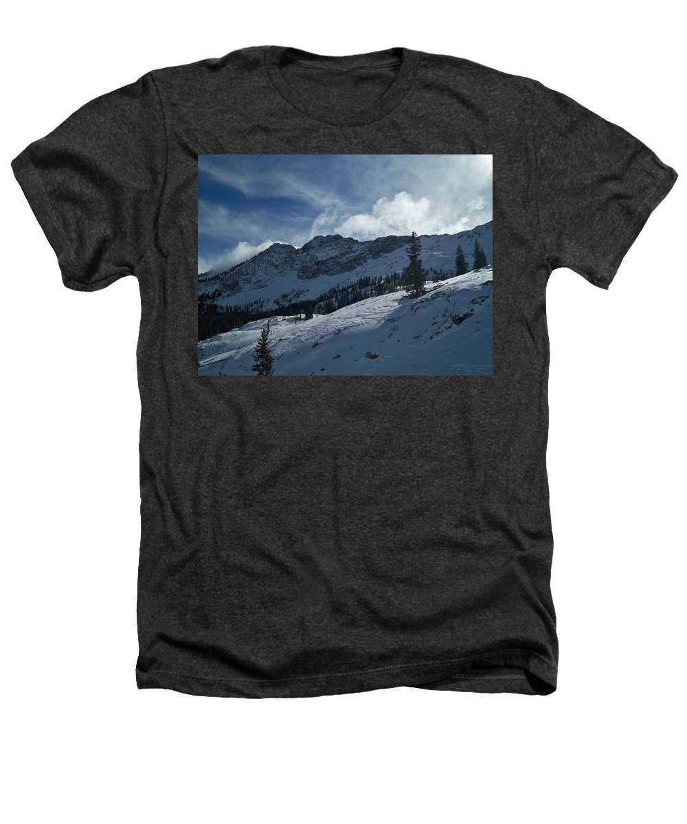 Ski Heathers T-Shirt featuring the photograph Devils Castle Morning Light by Michael Cuozzo