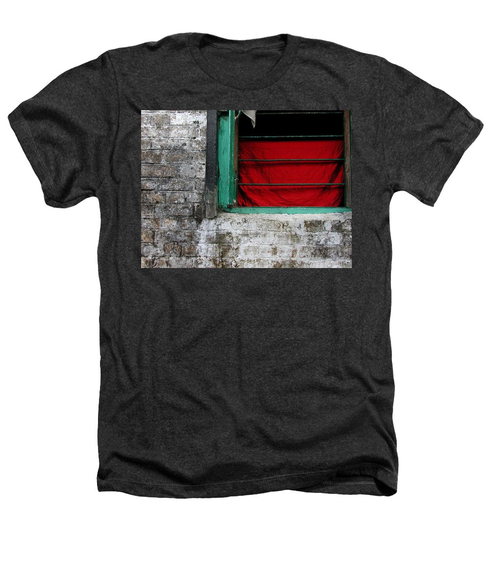 Red Heathers T-Shirt featuring the photograph Dharamsala Window by Skip Hunt