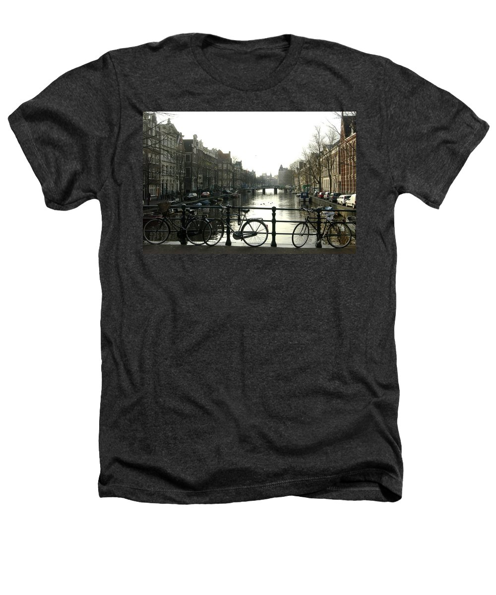 Landscape Amsterdam Red Light District Heathers T-Shirt featuring the photograph Dnrh1103 by Henry Butz