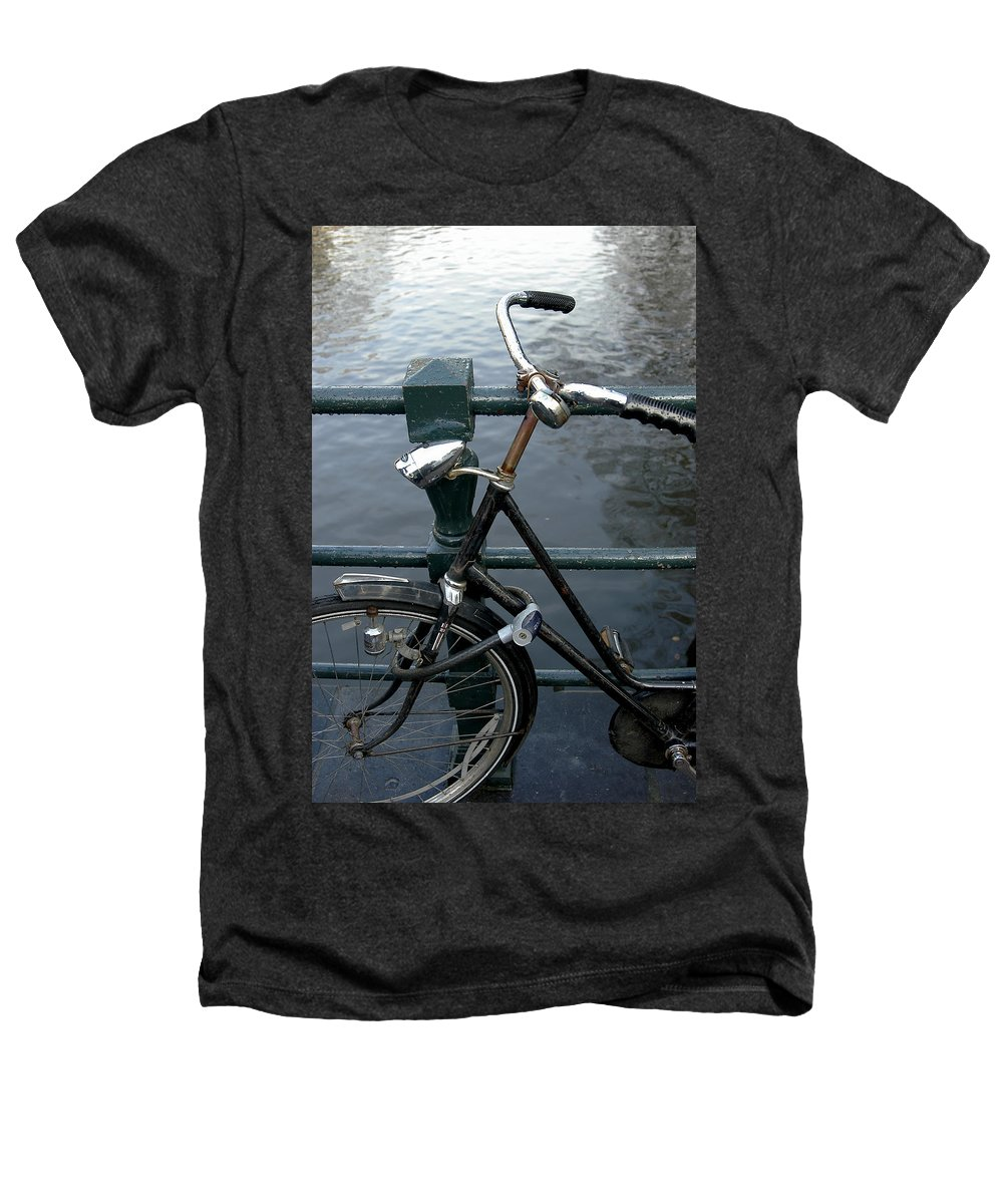 Landscape Amsterdam Red Light District Bicycle Heathers T-Shirt featuring the photograph Dnrh1104 by Henry Butz