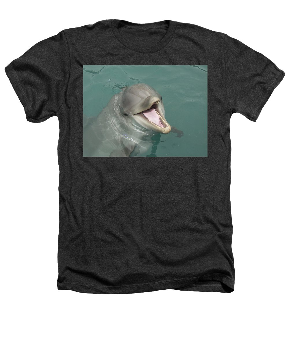 Dolphin Heathers T-Shirt featuring the painting Dolphin by Sean M
