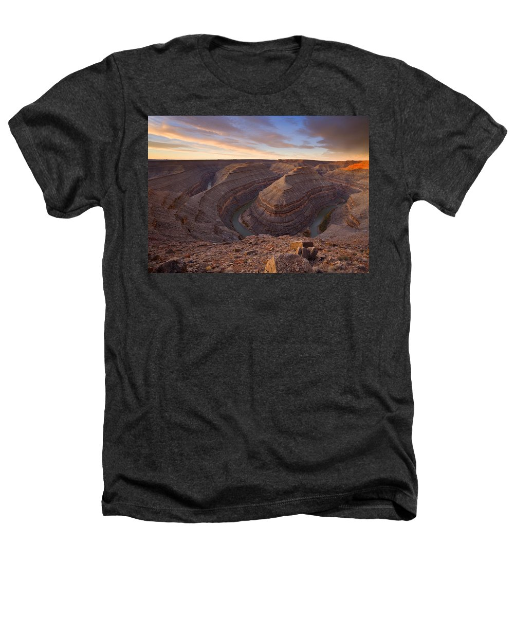 Goosenecks State Park Heathers T-Shirt featuring the photograph Doubleback by Mike Dawson