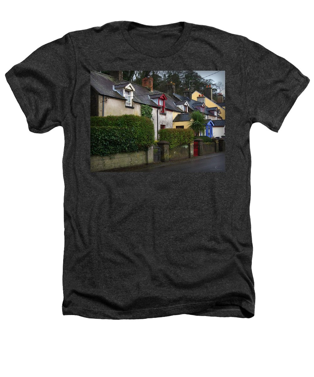 Ireland Heathers T-Shirt featuring the photograph Dunmore Houses by Tim Nyberg