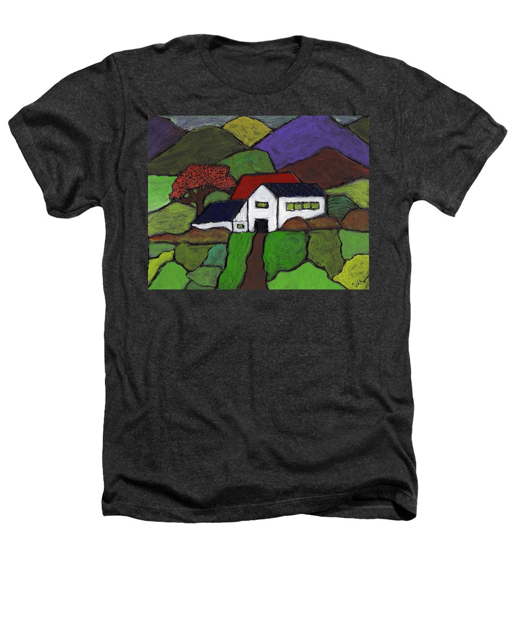 Farm Heathers T-Shirt featuring the painting Early Autumn by Wayne Potrafka