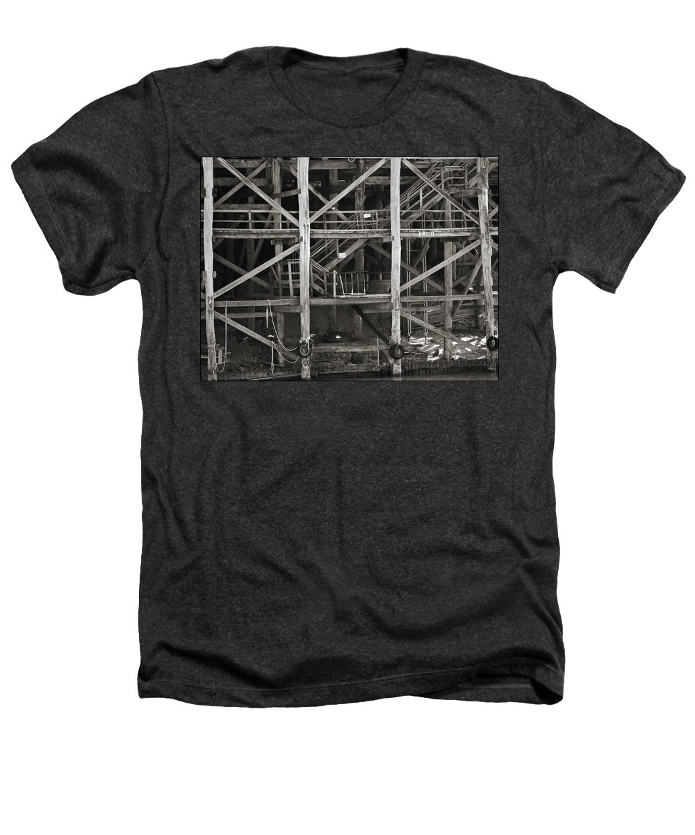 Wharf Heathers T-Shirt featuring the photograph Echuca Wharf by Kelly Jade King