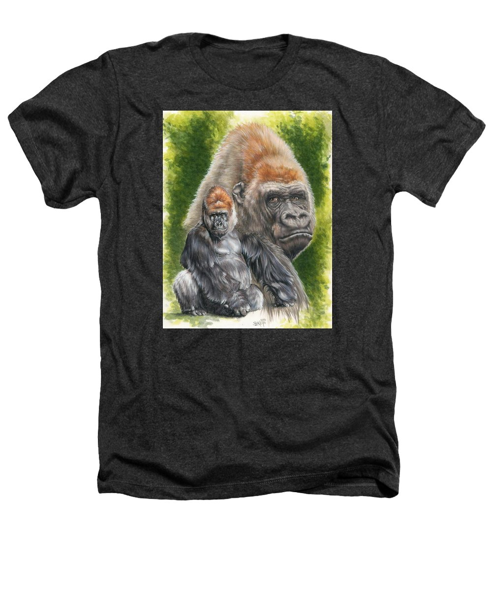 Gorilla Heathers T-Shirt featuring the mixed media Eloquent by Barbara Keith