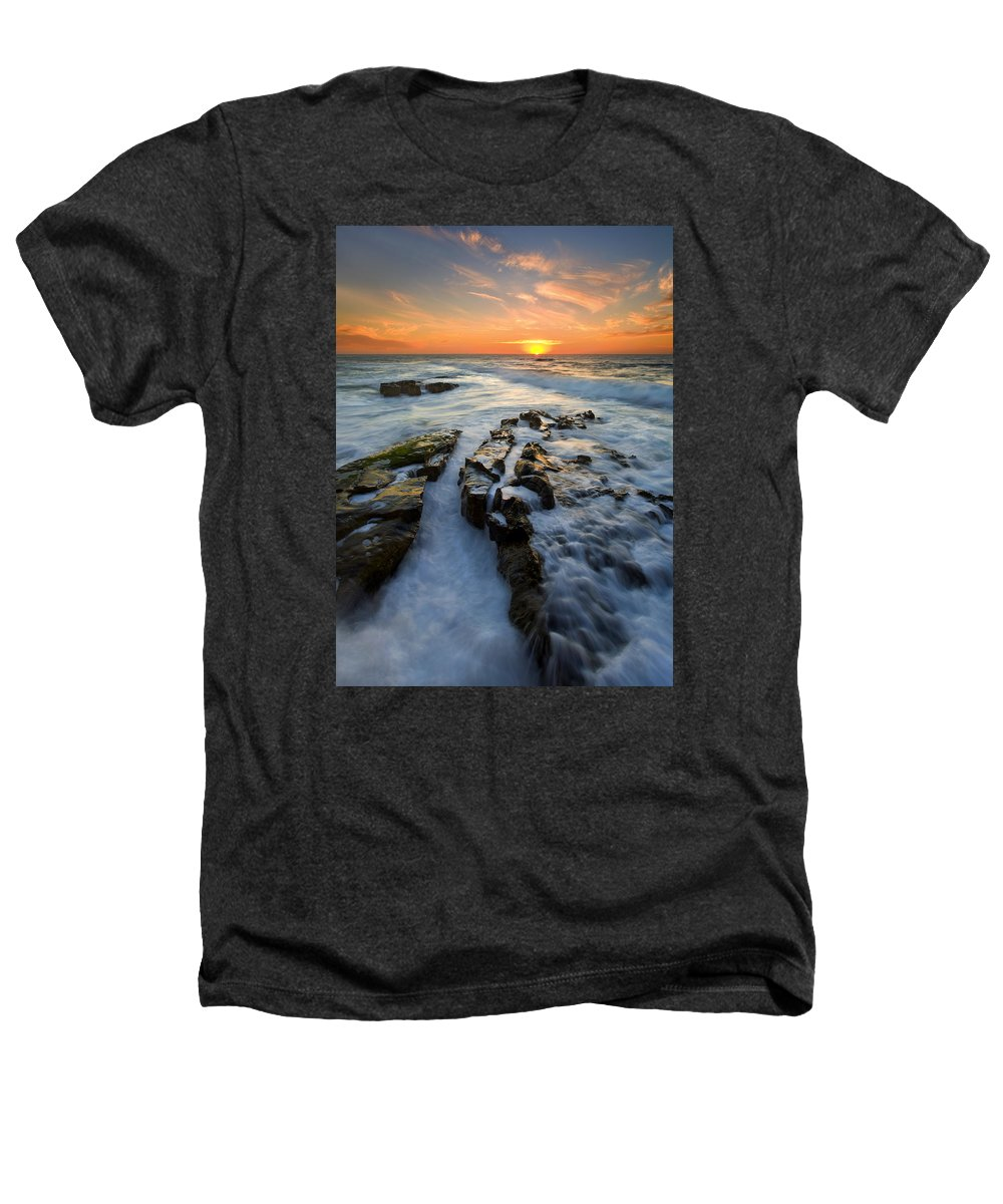 Sunset Heathers T-Shirt featuring the photograph Engulfed by Mike Dawson