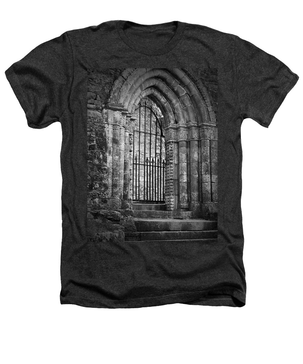 Irish Heathers T-Shirt featuring the photograph Entrance To Cong Abbey Cong Ireland by Teresa Mucha