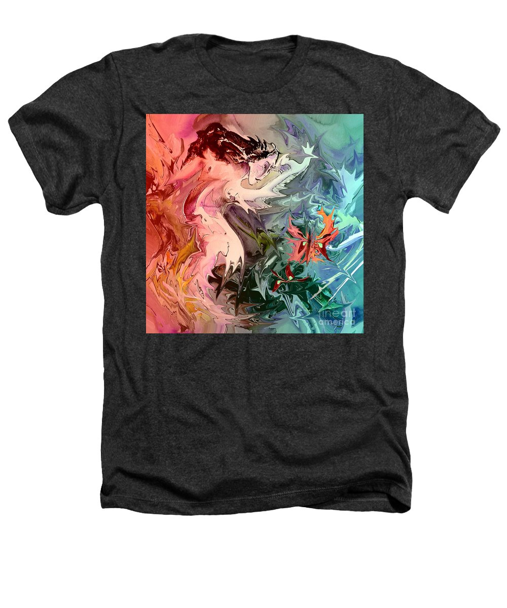 Miki Heathers T-Shirt featuring the painting Eroscape 08 1 by Miki De Goodaboom