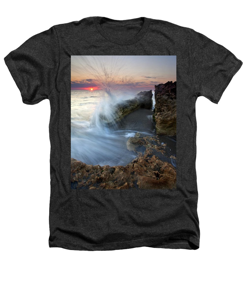 Blowing Rocks Heathers T-Shirt featuring the photograph Eruption At Dawn by Mike Dawson