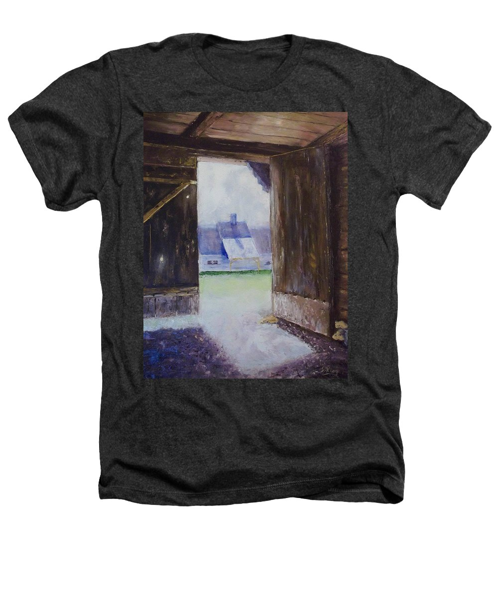 Shed Heathers T-Shirt featuring the painting Escape The Sun by Stephen King