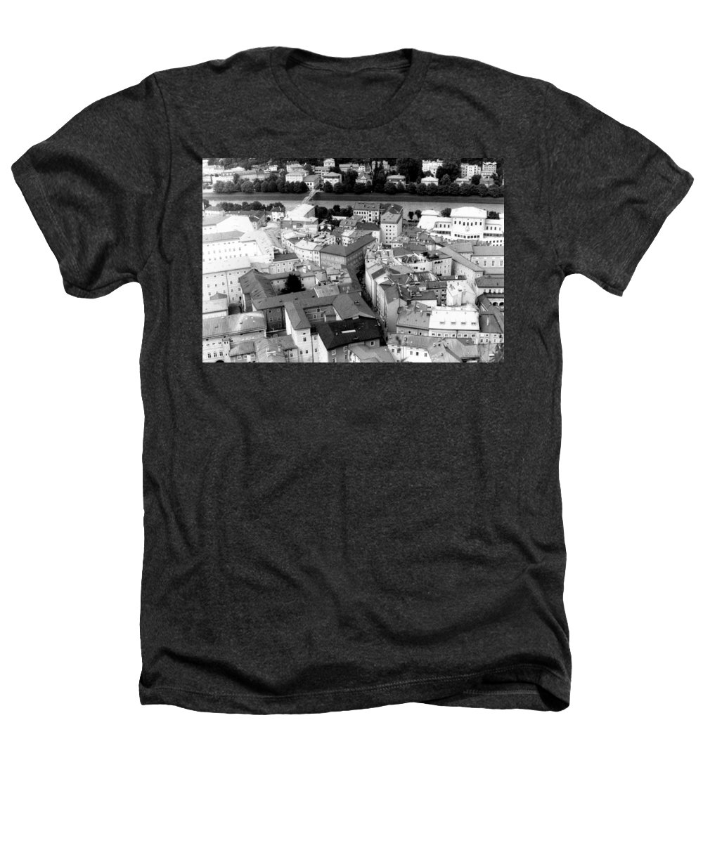 Rofftops Heathers T-Shirt featuring the photograph European Rooftops by Michelle Calkins