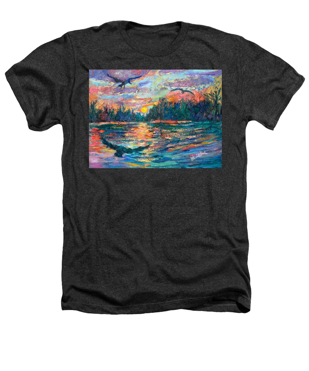 Landscape Heathers T-Shirt featuring the painting Evening Flight by Kendall Kessler