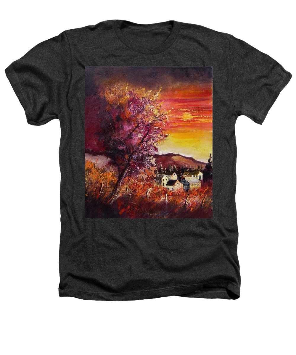 Autumn Heathers T-Shirt featuring the painting Fall In Villers by Pol Ledent