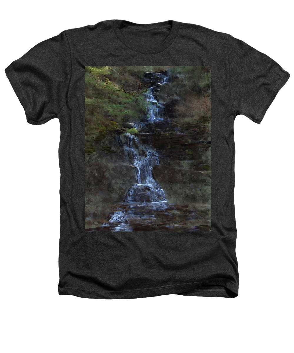 Heathers T-Shirt featuring the photograph Falls At 6 Mile Creek Ithaca N.y. by David Lane