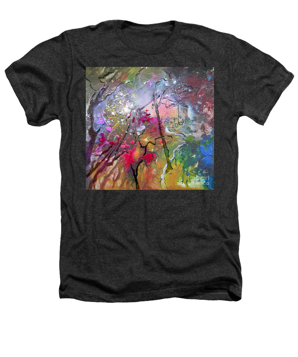 Miki Heathers T-Shirt featuring the painting Fantaspray 19 1 by Miki De Goodaboom