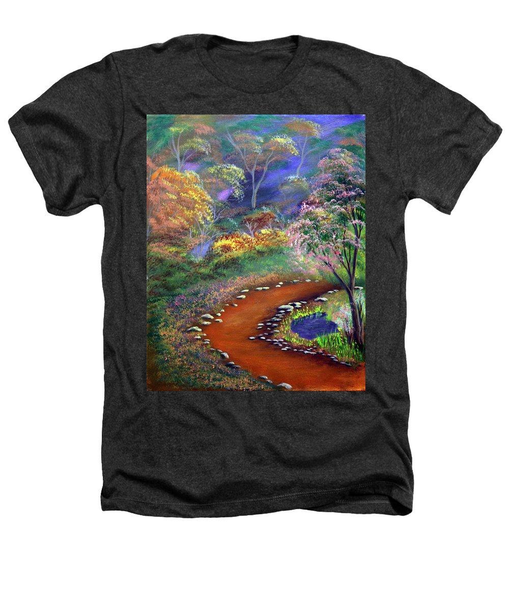 Dawn Blair Heathers T-Shirt featuring the painting Fantasy Path by Dawn Blair