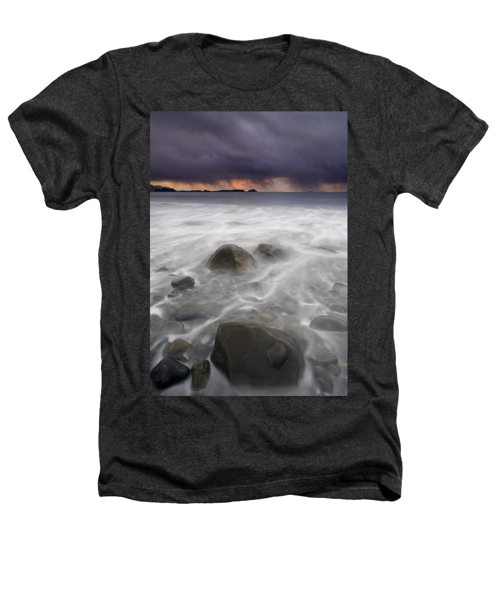 Storm Heathers T-Shirt featuring the photograph Fingers Of The Storm by Mike Dawson