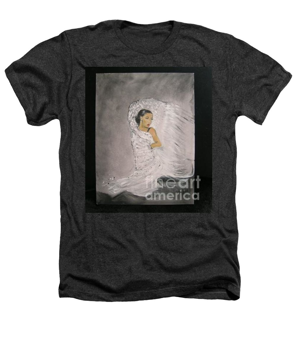 Spain Heathers T-Shirt featuring the painting Flamenco by Lizzy Forrester
