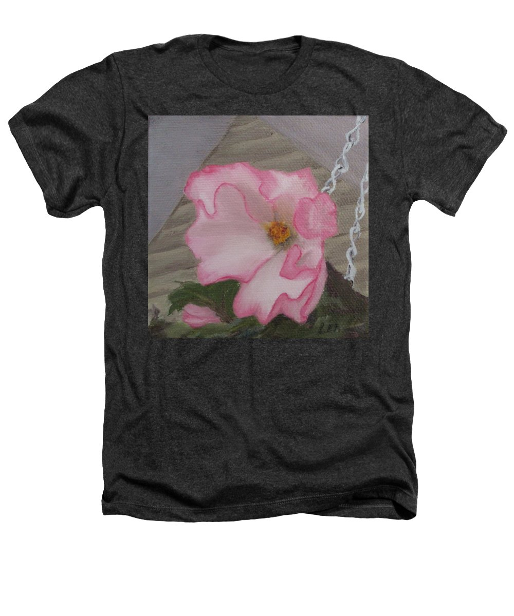 Flower Heathers T-Shirt featuring the painting Flirty Begonia by Lea Novak