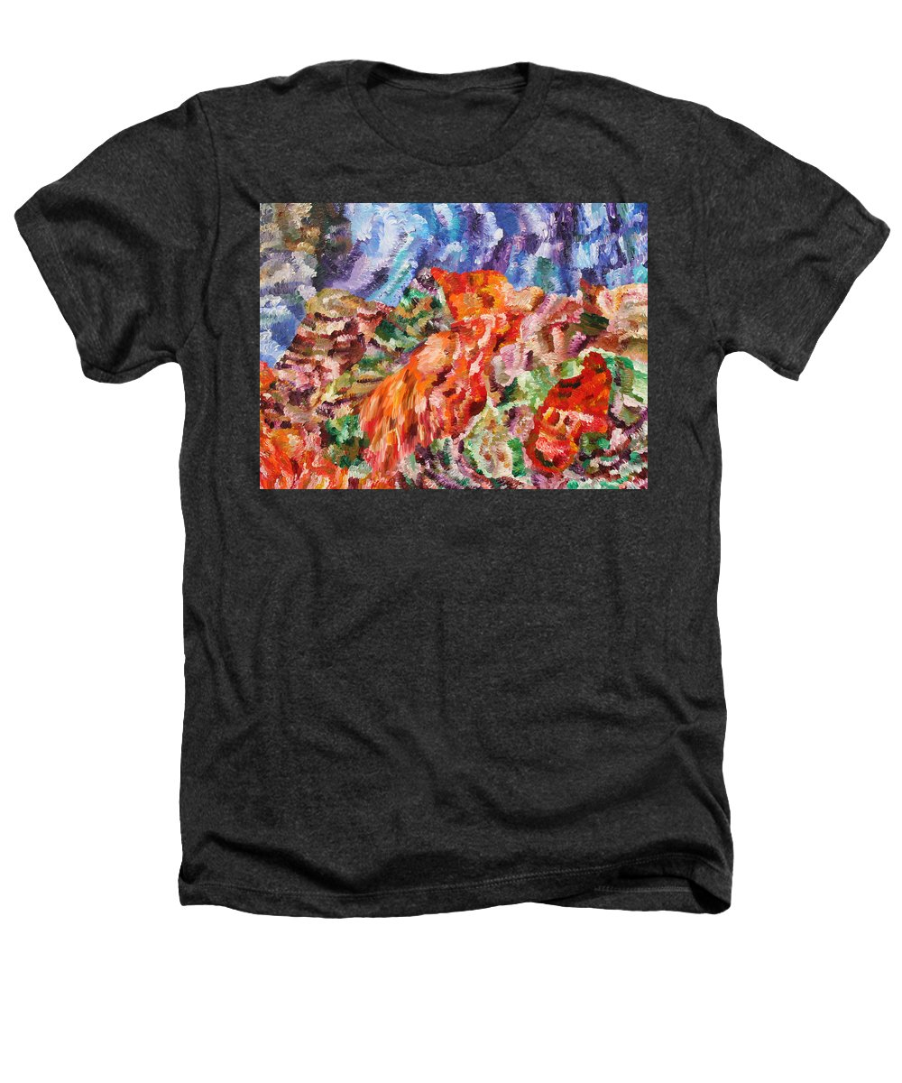 Fusionart Heathers T-Shirt featuring the painting Flock by Ralph White