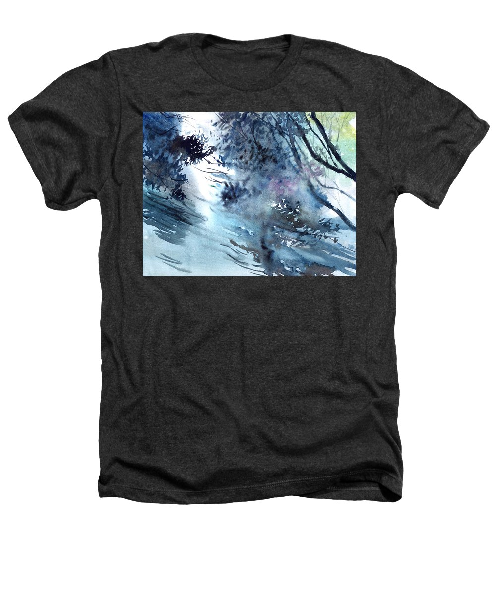 Floods Heathers T-Shirt featuring the painting Flooding by Anil Nene