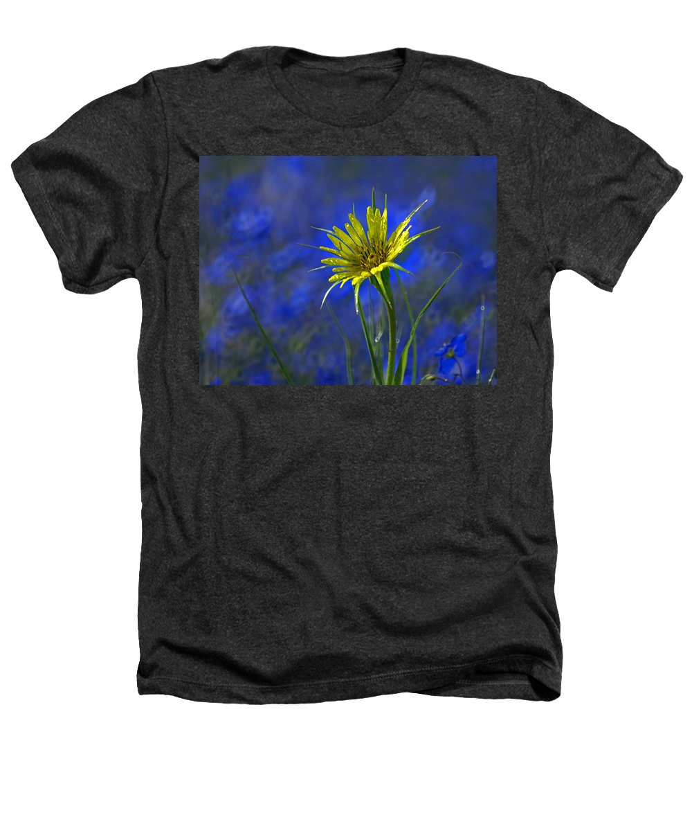 Flower Heathers T-Shirt featuring the photograph Flower And Flax by Heather Coen