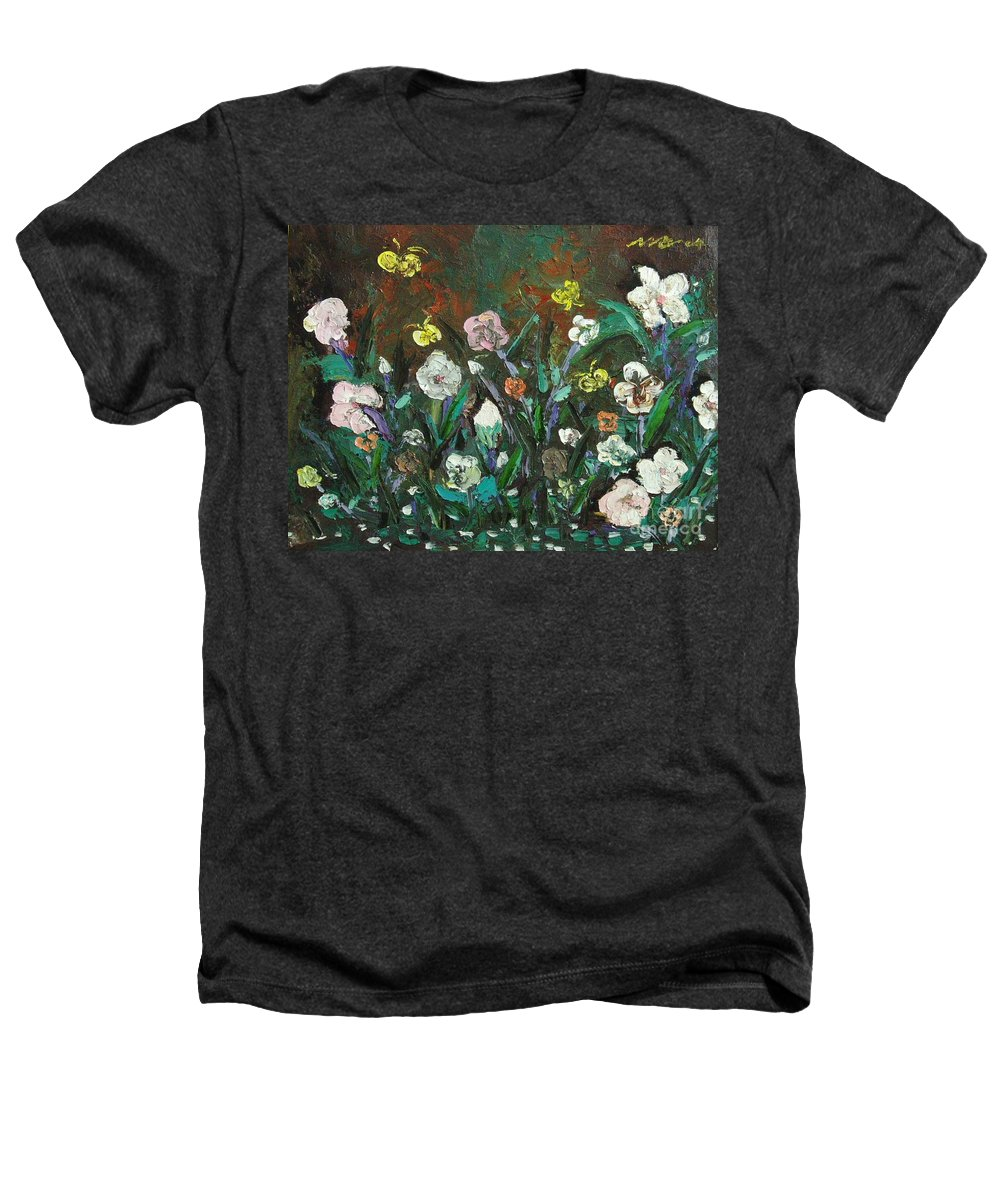 Abstract Paintings Heathers T-Shirt featuring the painting Flower Garden by Seon-Jeong Kim