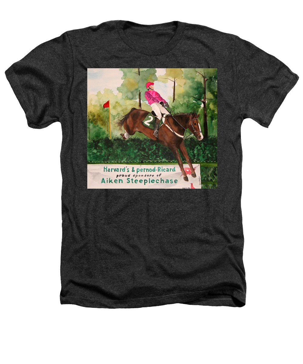 Horse Heathers T-Shirt featuring the painting Flying High by Jean Blackmer