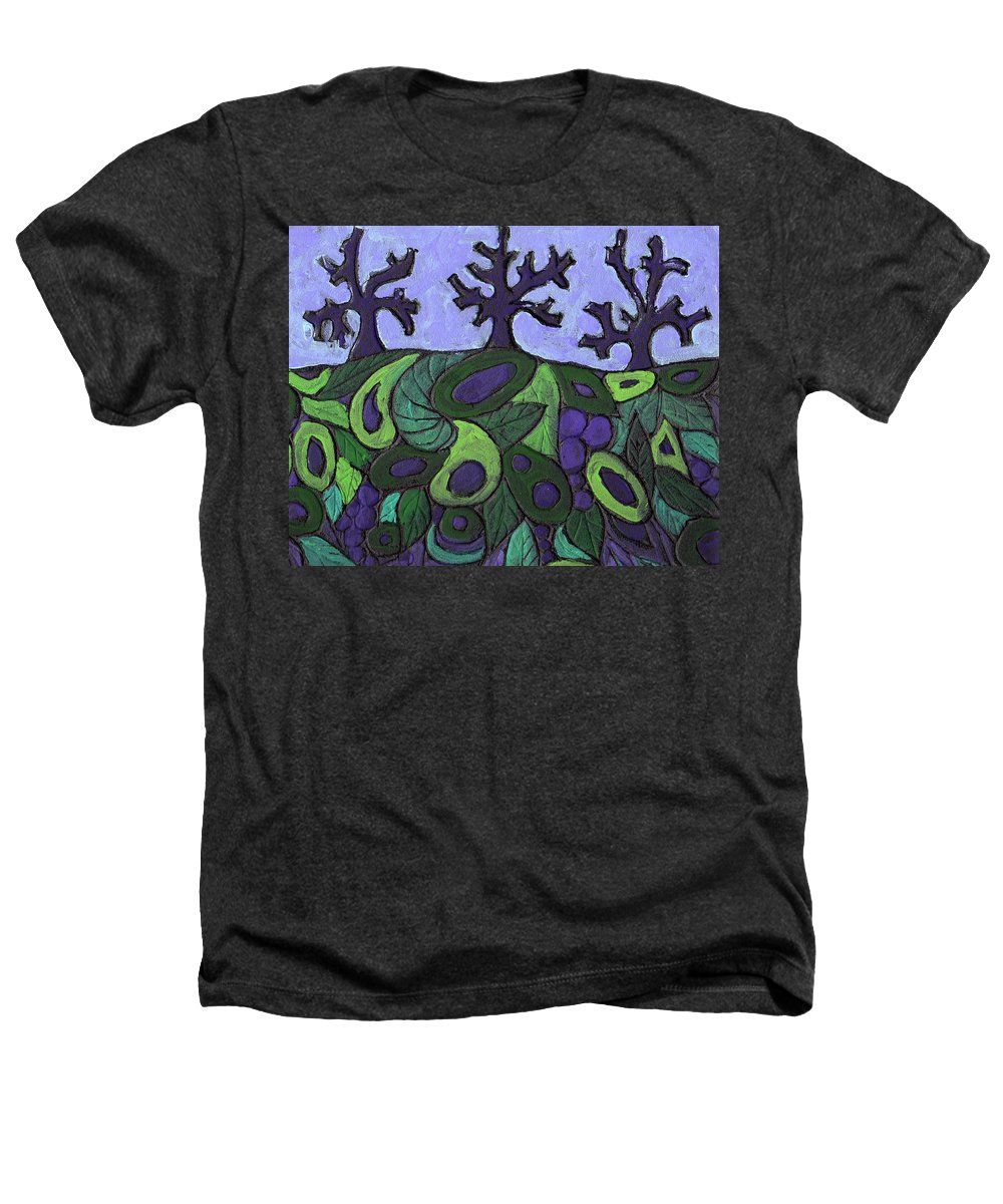 Forest Heathers T-Shirt featuring the painting Forest Royal by Wayne Potrafka