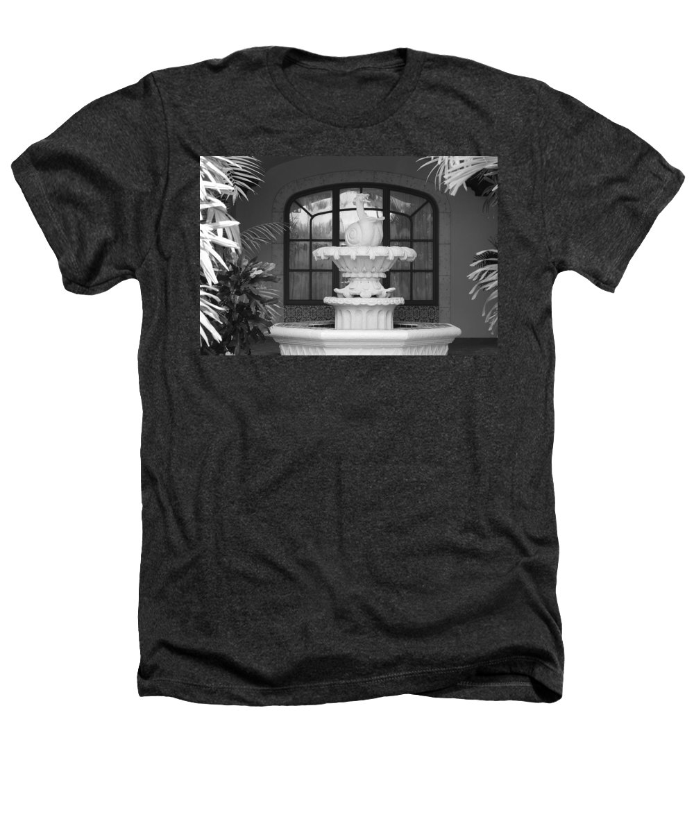 Architecture Heathers T-Shirt featuring the photograph Fountian And Window by Rob Hans