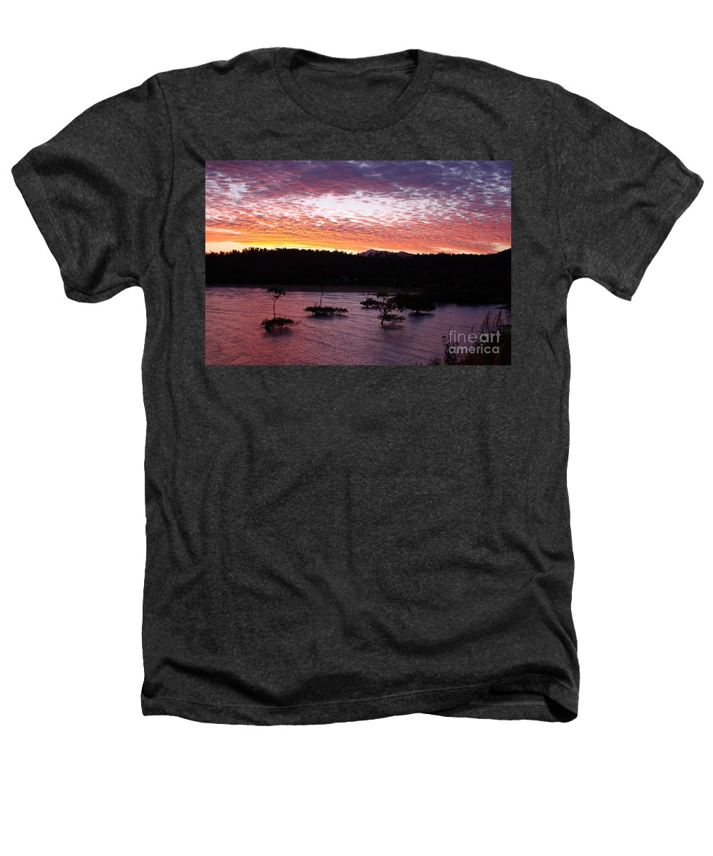 Landscape Heathers T-Shirt featuring the photograph Four Elements Sunset Sequence 3 Coconuts Qld by Kerryn Madsen - Pietsch