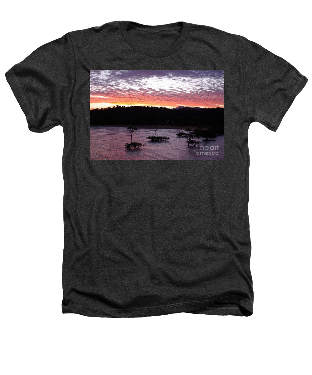 Landscape Heathers T-Shirt featuring the photograph Four Elements Sunset Sequence 8 Coconuts Qld by Kerryn Madsen - Pietsch
