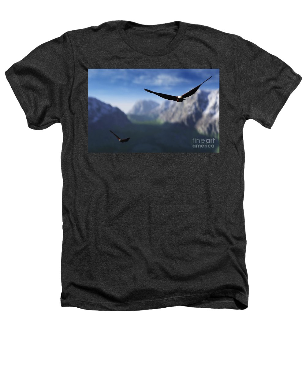 Eagles Heathers T-Shirt featuring the digital art Free Bird by Richard Rizzo