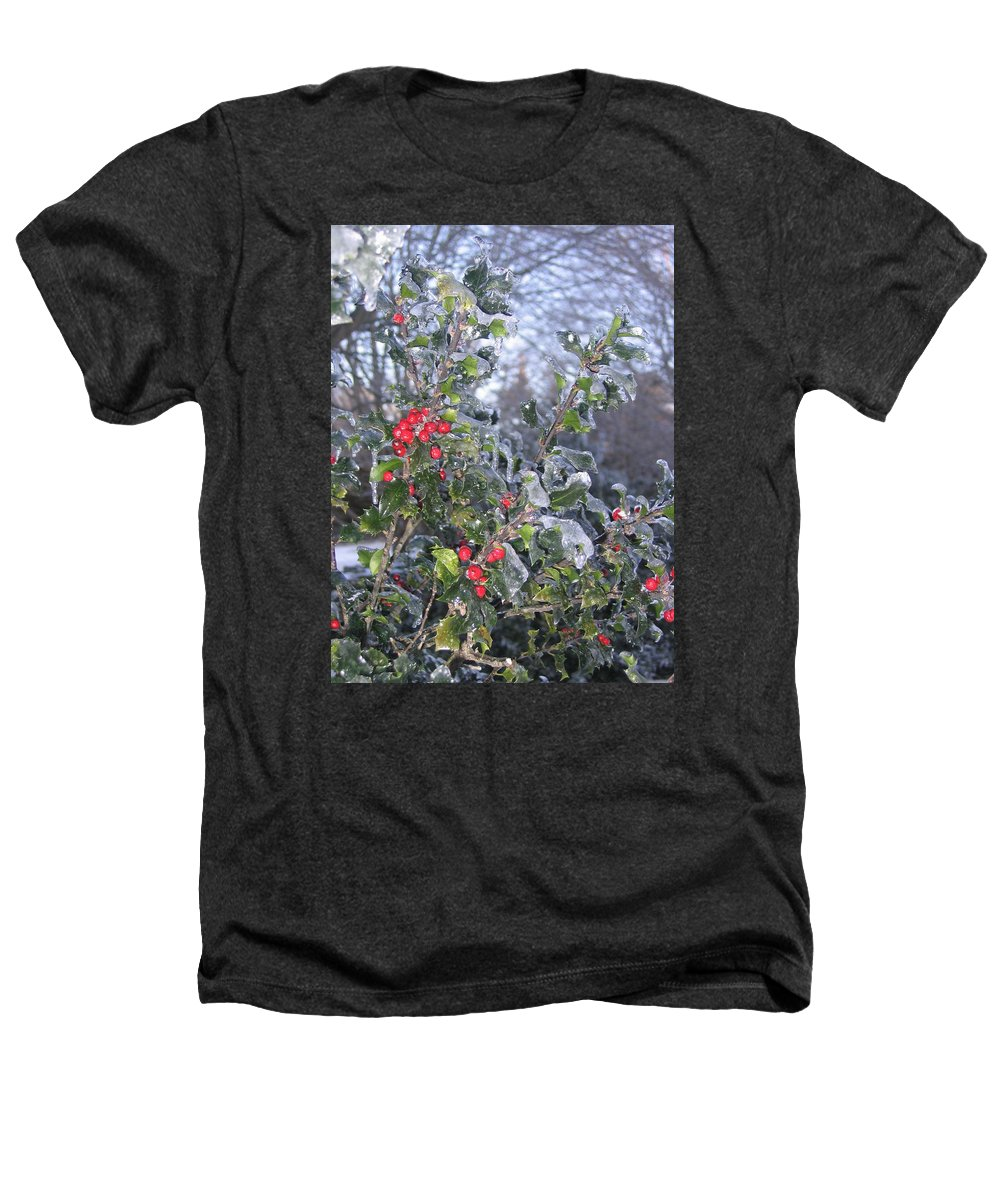 Winter Heathers T-Shirt featuring the photograph Frozen In Time by Paula Emery