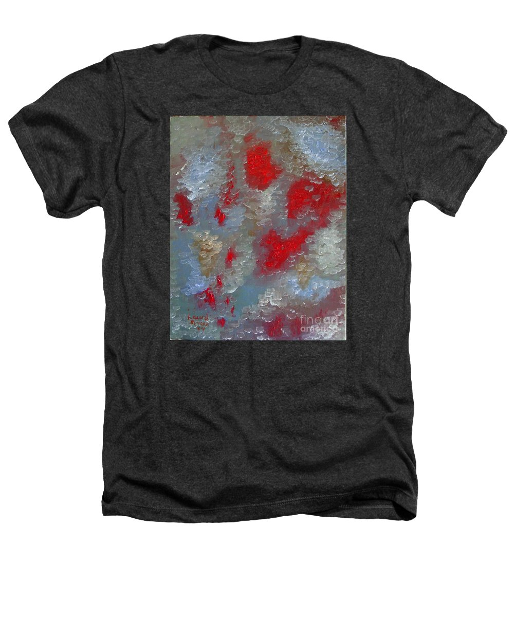 Abstract Heathers T-Shirt featuring the painting Frozen Street by Laurie Morgan