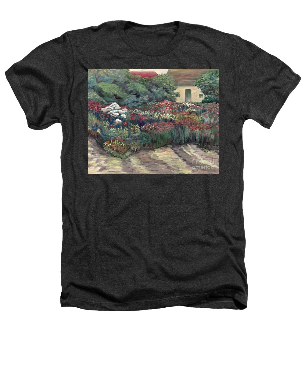 Breck Heathers T-Shirt featuring the painting Garden At Giverny by Nadine Rippelmeyer