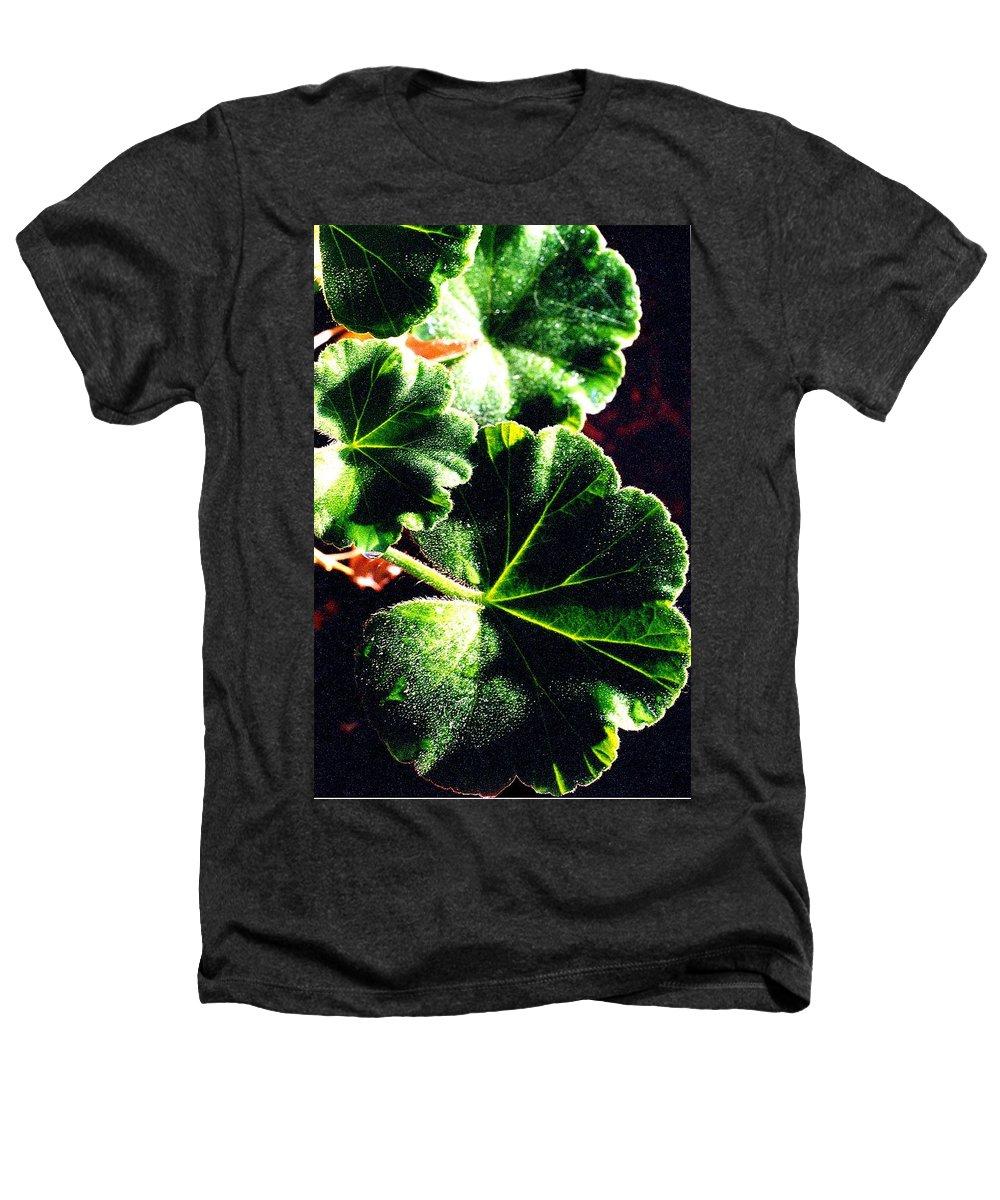 Geraniums Heathers T-Shirt featuring the photograph Geranium Leaves by Nancy Mueller