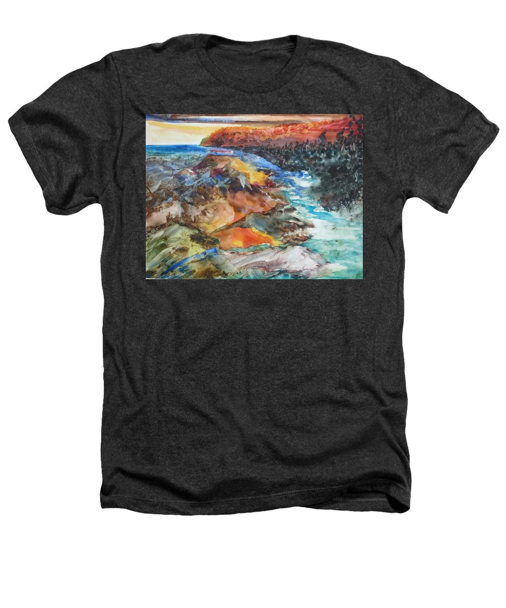 Abstract Heathers T-Shirt featuring the painting Glacial Meltdown by Ruth Kamenev