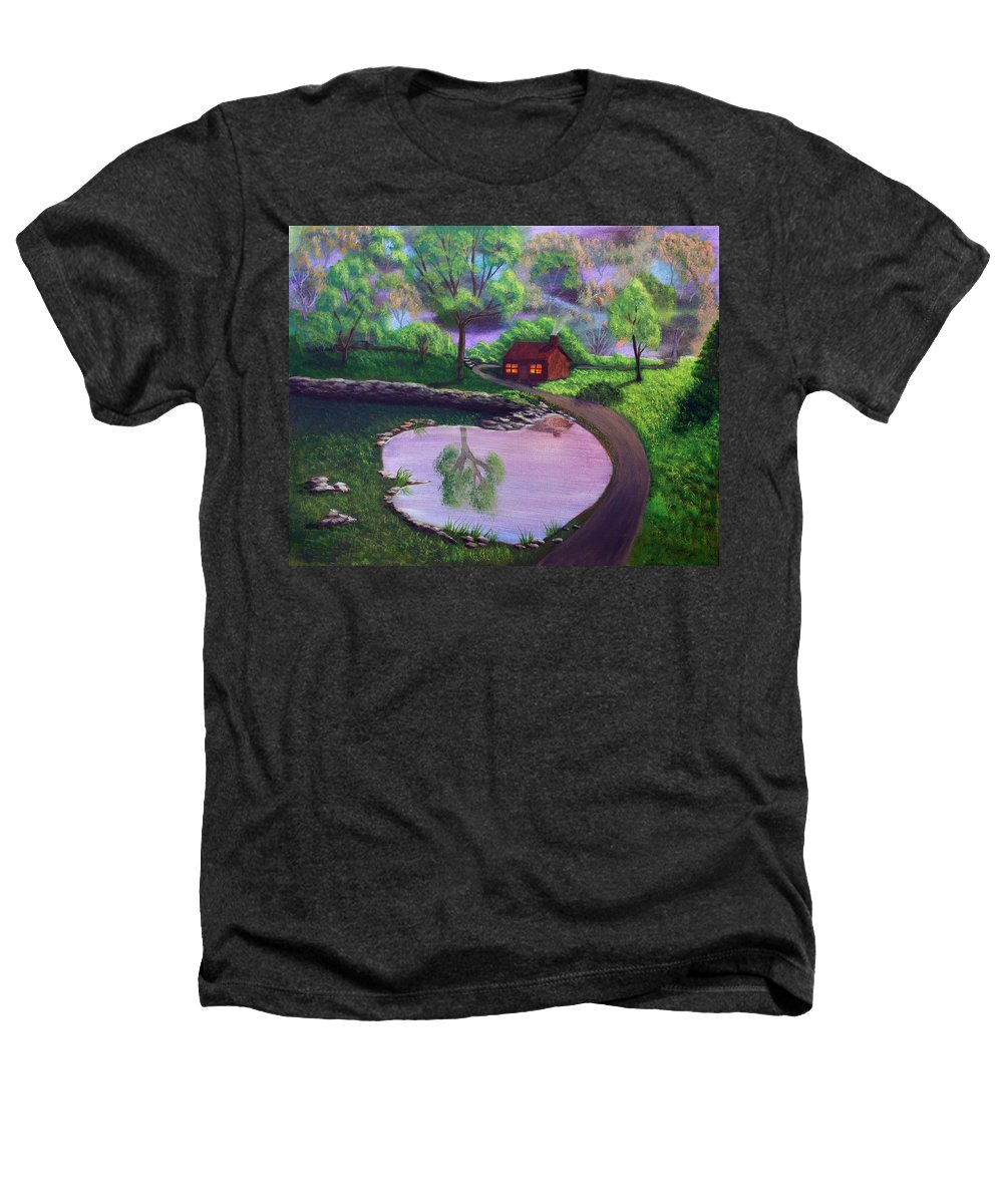 Light Heathers T-Shirt featuring the painting Good Spring Morning by Dawn Blair