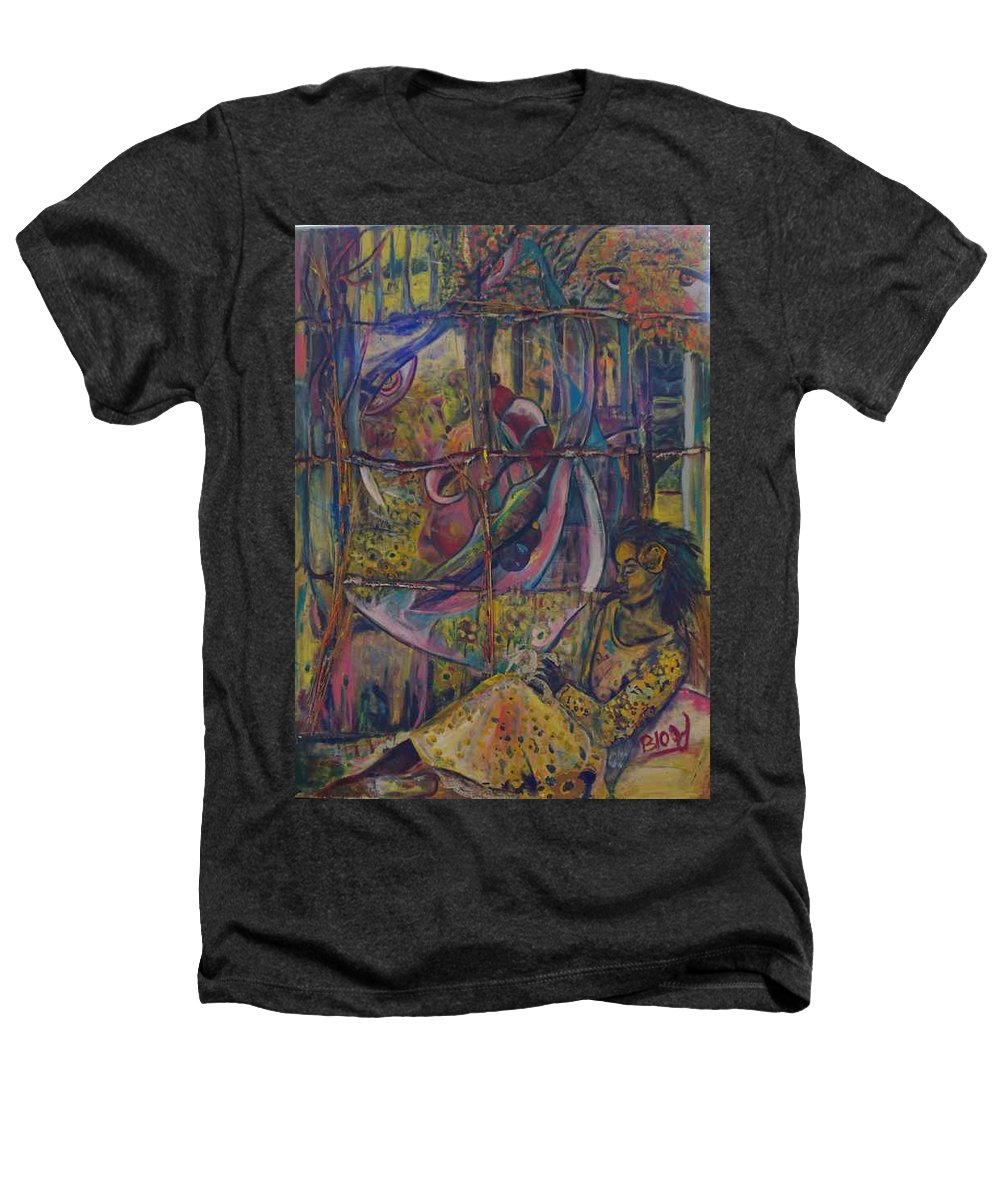 Mother Heathers T-Shirt featuring the painting Goodbye Sweet Dreams by Peggy Blood