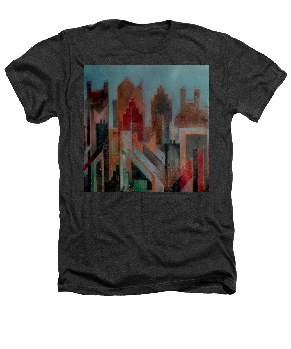 Abstract Heathers T-Shirt featuring the painting Gothem City by Anita Burgermeister