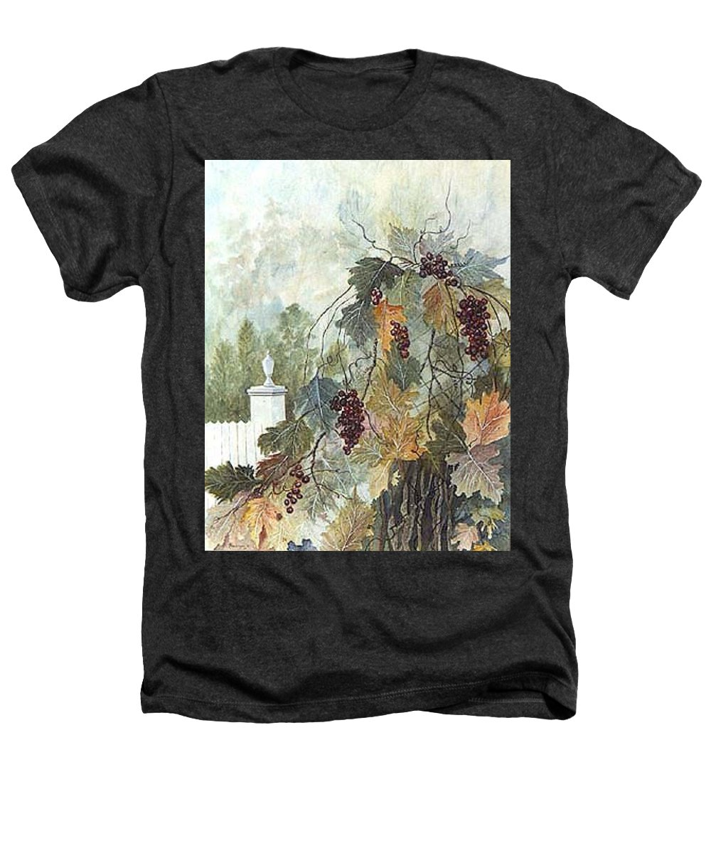 Fruit Heathers T-Shirt featuring the painting Grapevine Topiary by Ben Kiger