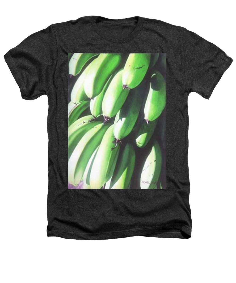 Hyperrealism Heathers T-Shirt featuring the painting Green Bananas I by Michael Earney