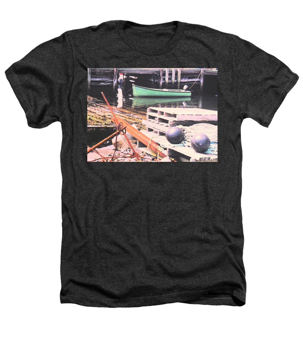 Green Heathers T-Shirt featuring the photograph Green Boat by Ian MacDonald