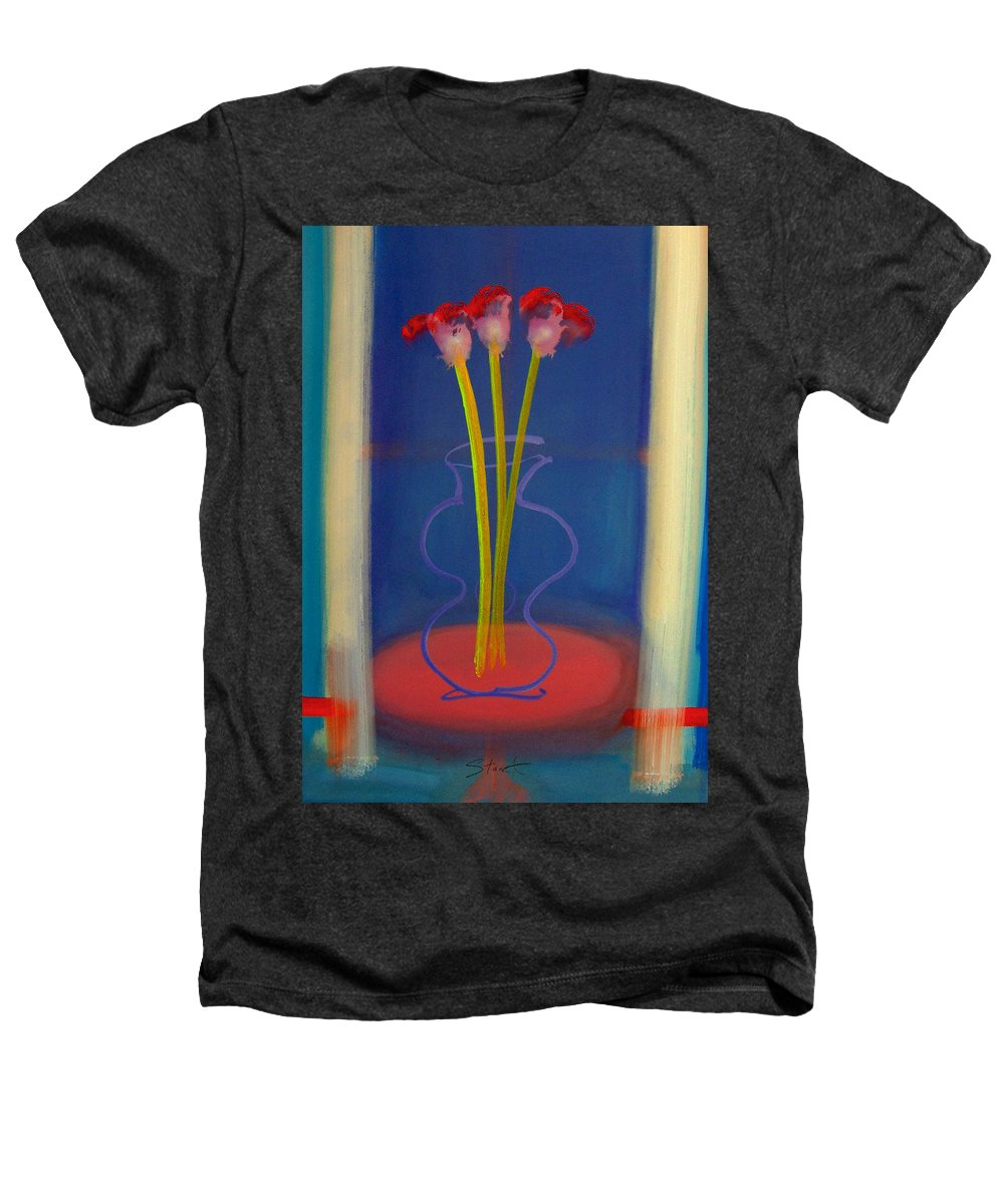 Guitar Heathers T-Shirt featuring the painting Guitar Vase by Charles Stuart